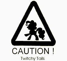 Caution twitchy tail black Unisex T-Shirt