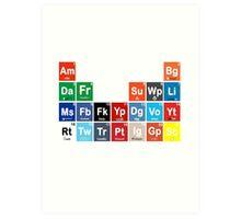Periodic Table of Social Media Art Print