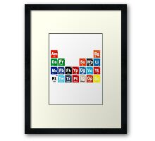 Periodic Table of Social Media Framed Print