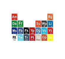 Periodic Table of Social Media Photographic Print