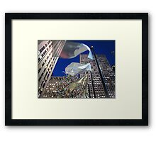 30 Rock at Christmas, 2011 Framed Print