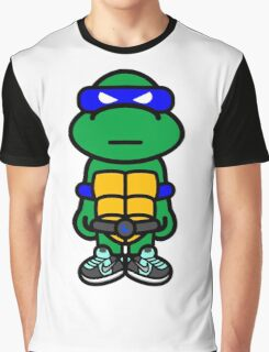 Blue Renaissance Turtle Graphic T-Shirt