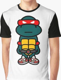 Red Renaissance Turtle Graphic T-Shirt