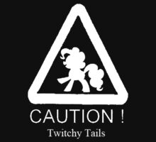 Caution twitchy tail White by Snowfall