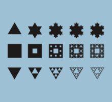 Three fractals (light clothes) by Kip Stewart