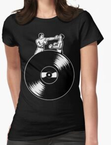 Vinyl Fight Womens Fitted T-Shirt