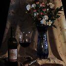 Blue vase with Wine by FrankSchmidt