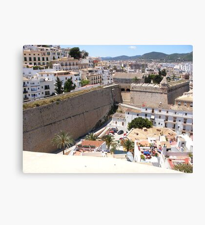 Looking Over Ibiza Town Canvas Print