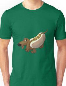 Dachshund in Hot Dog Costume Unisex T-Shirt