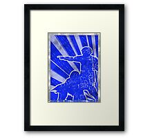 FC BLUE Army Propaganda (Weathered) Framed Print