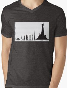In The Shadow of Barad-dur Mens V-Neck T-Shirt