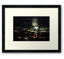 New Year's Eve, Canberra Framed Print
