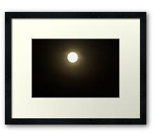 Moony smile Framed Print