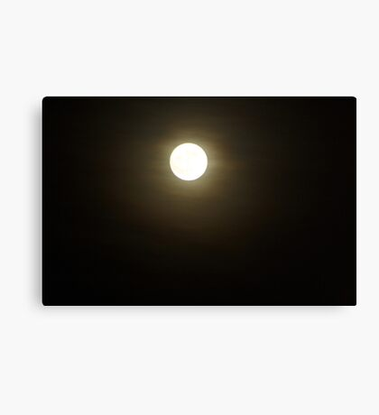 Moony smile Canvas Print