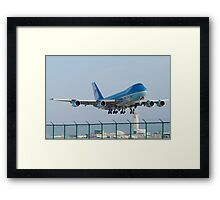 Air Force One Lifts Off from KCLE January 2012 Framed Print
