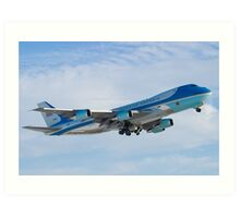 Side Shot of Air Force One Departing KCLE January 2012 Art Print