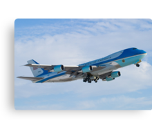 Side Shot of Air Force One Departing KCLE January 2012 Canvas Print