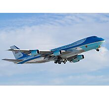 Side Shot of Air Force One Departing KCLE January 2012 Photographic Print