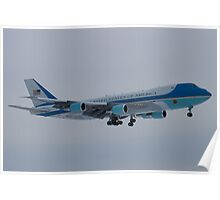 Side Shot of Air Force One On Approach to KCLE January 2012 Poster