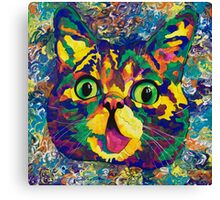 Spectra Lil Bub revisited Canvas Print