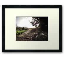 After the storm has passed. Framed Print