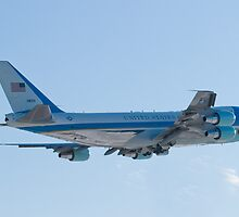Rear Shot of 92-9000 Air Force One Departing KCLE January 2012 by Henry Plumley