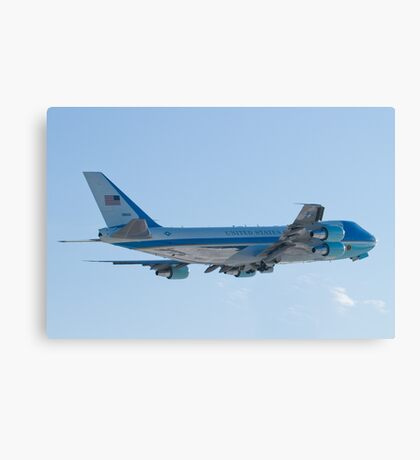 Rear Shot of 92-9000 Air Force One Departing KCLE January 2012 Canvas Print
