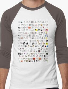 Meme Collage Men's Baseball ¾ T-Shirt