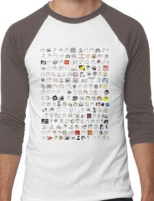 Meme Collage Men's Baseball ¾ T-Shirt