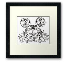 Mickey Mouse Sugar Skull Framed Print