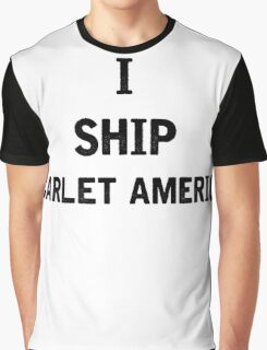 I Ship Scarlet America Graphic T-Shirt