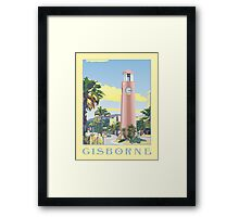 Gisborne Art Deco Clock Tower Framed Print