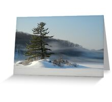 Little Long Pond In Winter Greeting Card