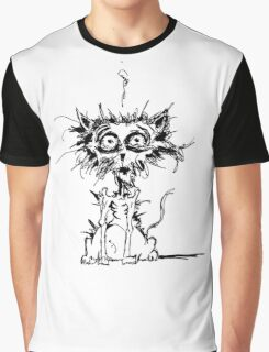 Angst Cat Graphic T-Shirt