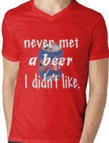 never met a beer Mens V-Neck T-Shirt
