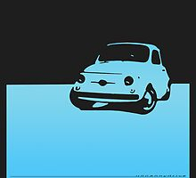 Fiat 500, 1959 - Light blue on black by uncannydrive