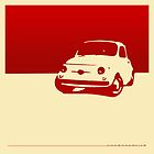 Fiat 500, 1959 - Red on cream by uncannydrive