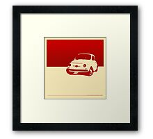 Fiat 500, 1959 - Red on cream Framed Print