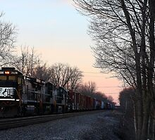 Evening Train - West Chester Ohio by Tony Wilder