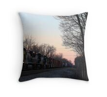 Evening Train - West Chester Ohio Throw Pillow