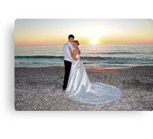 Beach Wedding Portrait Canvas Print