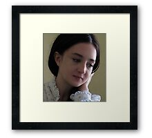 Portrait of young woman Framed Print