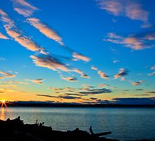 Sunset over Kayak Point by Jim Stiles