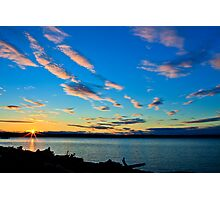 Sunset over Kayak Point Photographic Print