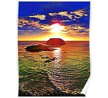Nobbies Sunset Phosphoresence Poster