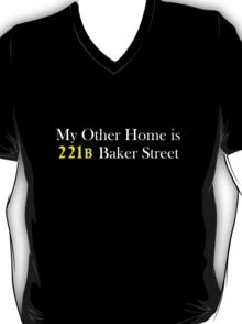 My Other Home is 221B Baker Street (White) T-Shirt