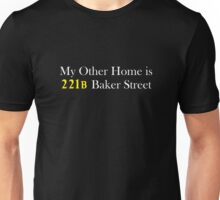 My Other Home is 221B Baker Street (White) Unisex T-Shirt