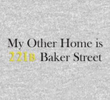 My Other Home is 221B Baker Street (Black) One Piece - Short Sleeve