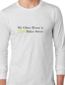 My Other Home is 221B Baker Street (Black) Long Sleeve T-Shirt
