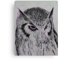 Violet Owl Canvas Print